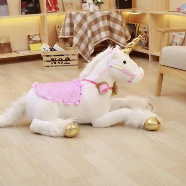 ユニコーン ぬいぐるみ 大きい 100cm 巨大 ビッグサイズ 馬 人形 ドール かわいい 子ども 孫 プレゼント 高級タイプ【3色ご用意】