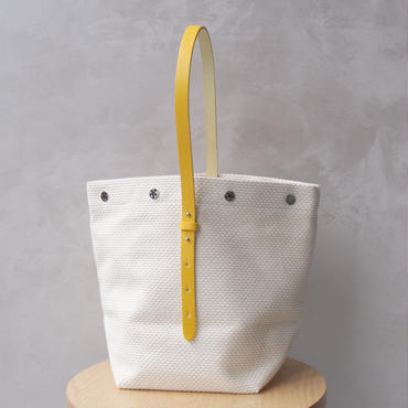 <30%OFF>CaBas N°47 Bucket bag White/Yellow
