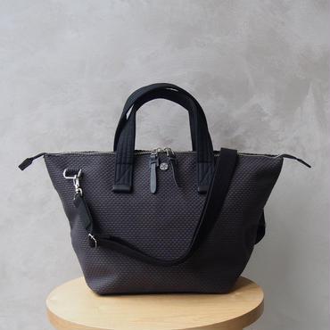 CaBas N°33 Bowler bag small + Shoulder strap Gray/Black