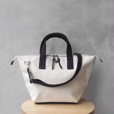 CaBas N°33 Bowler bag small + Shoulder strap White/Black
