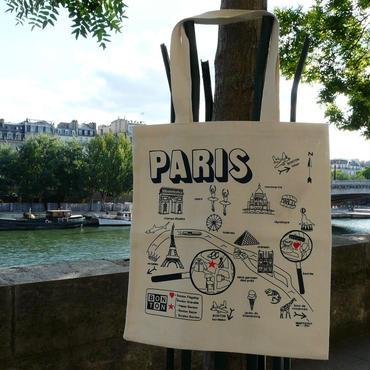 セール☆BONTON ボントン PARIS MAP パリマップ  トートバック