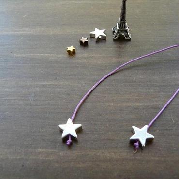 DANILA PARIS Deux étoile ネックレス パープルカラー 星のチャーム・スターチャーム