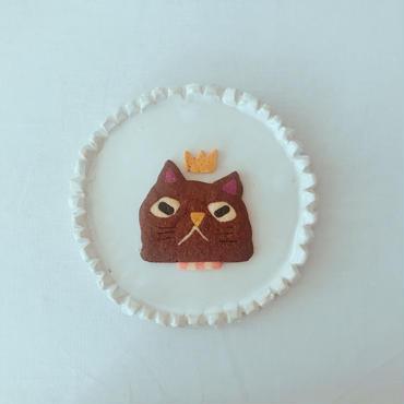 2/12発送:brownネコ(クッキー1枚、ギフトボックス入り)