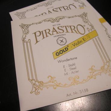 ヴァイオリン E線 弦 ピラストロゴールド Pirastro GOLD E バイオリン弦 E線 スチール ループエンド