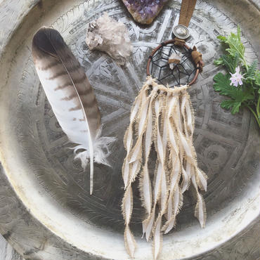 Crystal/Cotton Fringe Dream Catcher