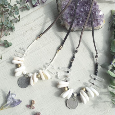 Vintage Coin / Crystal Necklace