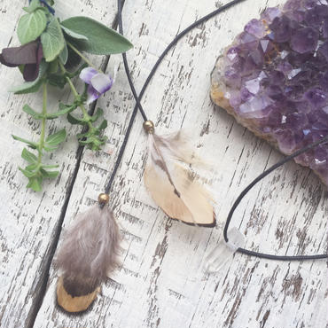 Feather/Crystal Choker