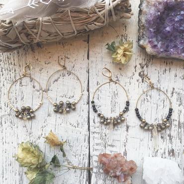 Afghan Vntage Bells Hoop Earrings(Gold Brass)