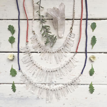 Crystal/Cotton Code Necklace