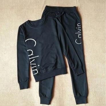 早春新品  Calvin Klein カルバンクライン セットアップ 上下セット 長袖 2色