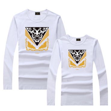 早春新品 人気シャツ Tシャツ 男女兼用 カップル かわいい 男女サイズ FE 人気シャツ ホワイト