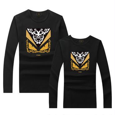 早春新品 人気シャツ Tシャツ 男女兼用 カップル かわいい 男女サイズ FE 人気シャツ ブラック