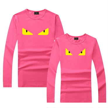 早春新品 人気シャツ Tシャツ 男女兼用 カップル かわいい 男女サイズ FE 大人気   ピンク