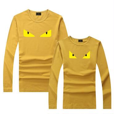 早春新品 人気シャツ Tシャツ 男女兼用 カップル かわいい 男女サイズ FE 大人気 イエロー