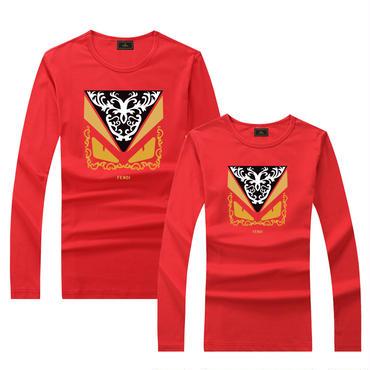 早春新品 人気シャツ Tシャツ 男女兼用 カップル かわいい 男女サイズ FE 人気シャツ レッド