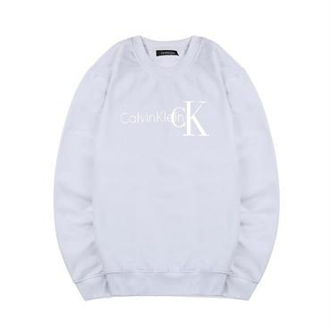 早春新品 カルバンクライン Calvin Klein スウェット 人気トレーナー 男女兼用 カップル ホワイト