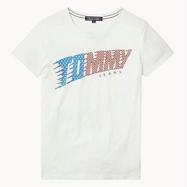 新品  トミーヒルフィガー Tommy Hilfiger Tシャツ 半袖 男女兼用 夏 人気商品 ホワイト