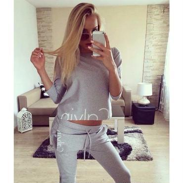 早春新品  Calvin Klein カルバンクライン セットアップ 上下セット 長袖 3色