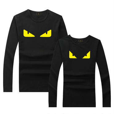 早春新品 人気シャツ Tシャツ 男女兼用 カップル かわいい 男女サイズ FE 大人気 ブラック