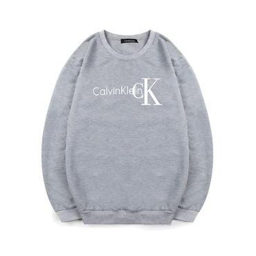 早春新品 カルバンクライン Calvin Klein スウェット 人気トレーナー 男女兼用 カップル グレー