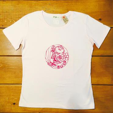 【ラスト1点!】ふわふわフロッキーコインTシャツ [ライトピンク]