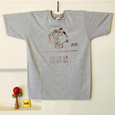 【KOME 新作】あをによしTシャツ  - 銀鼠 × 錫色
