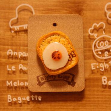 《選べる食パンシリーズ》ピンバッジ・マグネット・キーホルダー どれにする? 目玉焼きのせパン ☆しょこさんバージョン