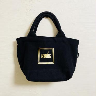 【ラスト1点】ミニ  トートバッグ(米袋)ゴールドロゴ