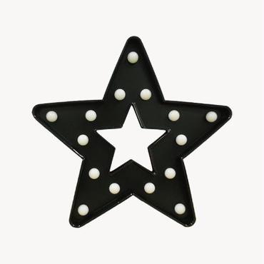 マーキーライト スターフレーム ブラック MARQUEE LIGHT STAR FRAME BLACK 【35235】