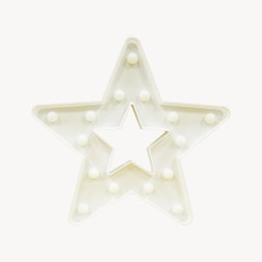 マーキーライト スターフレーム ホワイト MARQUEE LIGHT STAR FRAME WHITE 【35199】