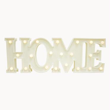 マーキーライト ホーム ホワイト MARQUEE LIGHT HOME WHITE 【34987】