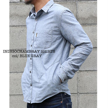 SH-01 / Waist Pockets Chambray Shirt