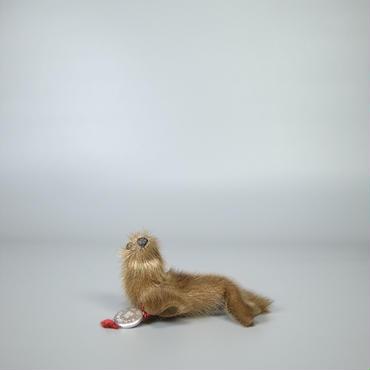 40s50s german stuffed seal real fur