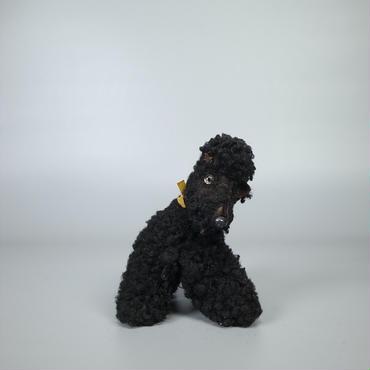 40s50s german stuffed leather dog