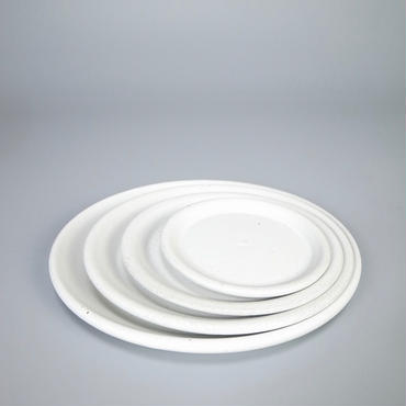 sueki yard / saucer set / white