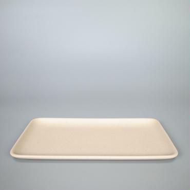 sueki ceramics / 260 square plate / ivory