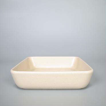 sueki ceramics / 170 square bowl / ivory