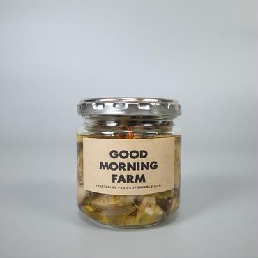 good morning farm / しいたけオイル漬け hot