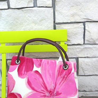 花柄 トートバッグ ピンク
