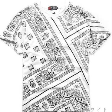 総柄Tシャツ★モノトーン×LAストリート★2色★【送料無料】