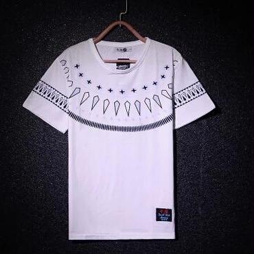 グラフィックプリントTシャツ★2色★半袖★クール×シンプル★【送料無料】