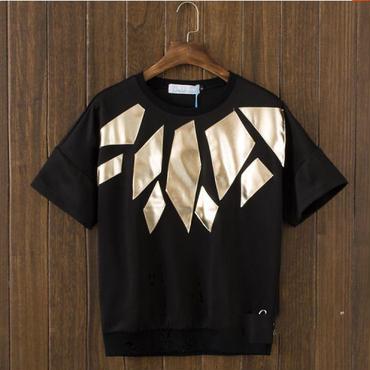幾何学模様★半袖★Tシャツカットソー★モード×クール【送料無料】