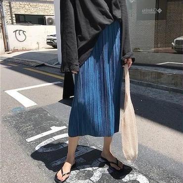 ベロア プリーツスカート