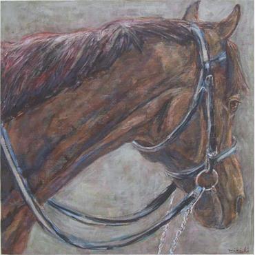 パドックの馬 (A Horse at Paddock)