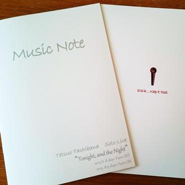 オリジナル五線譜ノート