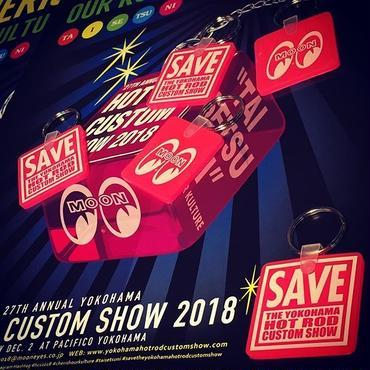 SAVE THE YOKOHAMA HOT ROD CUSTOM SHOW キー リング MKR144PK