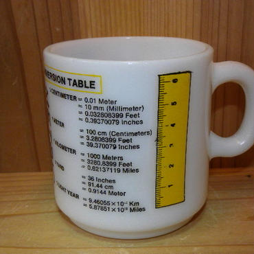 ミルクガラス Hazel Atlas METRIC MUG