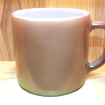 ミルクガラス FEDERAL Stacking Mug Brown