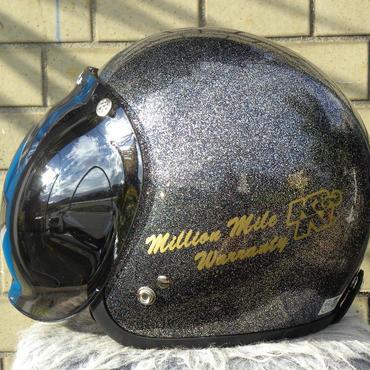 K&N ジェットヘルメット ブラック×シルバー フレーク 新品 シールド2枚付き