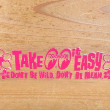 Take it Easy ステッカー (抜きタイプ) ピンク DM215PK